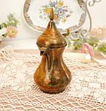 Антикварний арабська кавник, латунний чайник, даллах, латунь, 400 мл, фото 3