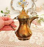 Антикварний арабська кавник, латунний чайник, даллах, латунь, 400 мл, фото 6