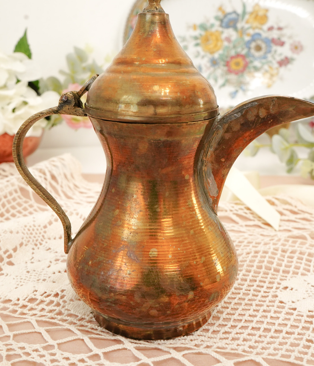 Антикварний арабська кавник, латунний чайник, даллах, латунь, 400 мл