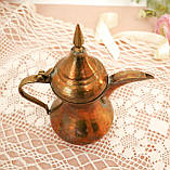 Антикварний арабська кавник, латунний чайник, даллах, латунь, 400 мл, фото 4