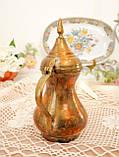 Антикварний арабська кавник, латунний чайник, даллах, латунь, 400 мл, фото 7