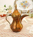 Антикварний арабська кавник, латунний чайник, даллах, латунь, 400 мл, фото 9