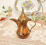 Антикварний арабська кавник, латунний чайник, даллах, латунь, 400 мл, фото 10