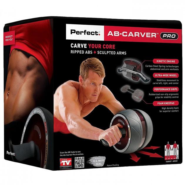 Ролик колесо для пресса с возвратным механизмом Perfect AB Carver Pro, лучший ролик тренажер для мышц живота