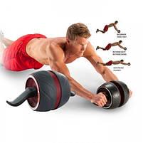 Ролик колесо для пресса с возвратным механизмом Perfect AB Carver Pro, лучший ролик тренажер для мышц живота, фото 4
