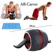 Ролик колесо для пресса с возвратным механизмом Perfect AB Carver Pro, лучший ролик тренажер для мышц живота, фото 5