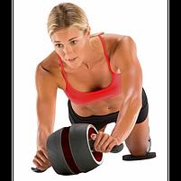 Ролик колесо для пресса с возвратным механизмом Perfect AB Carver Pro, лучший ролик тренажер для мышц живота, фото 6