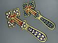 Крест напрестольный декорированный эмалью, фото 4
