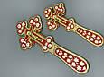 Крест напрестольный декорированный эмалью, фото 3