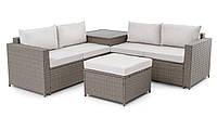 Комплект мебели в сад плетеной из ротанга di volio sondrio бежевый/кремовый