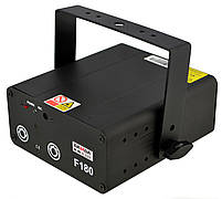 Лазерна установка (лазерний проектор, стробоскоп, диско лазер) BAMBA F180 Black (12905), фото 2