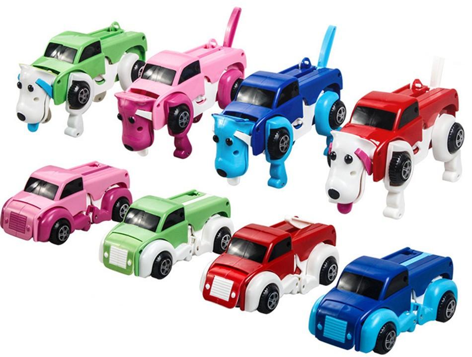 Детская игрушка трансформер машинка собака Развивающая игра для детей Компактная машинка-трансформер