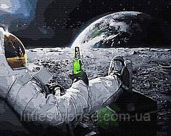Картина по номерам 40*50 см Релакс в космосе