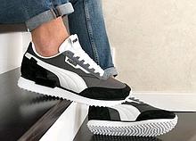 Серые мужские лёгкие кроссовки в стиле Puma Future Rider