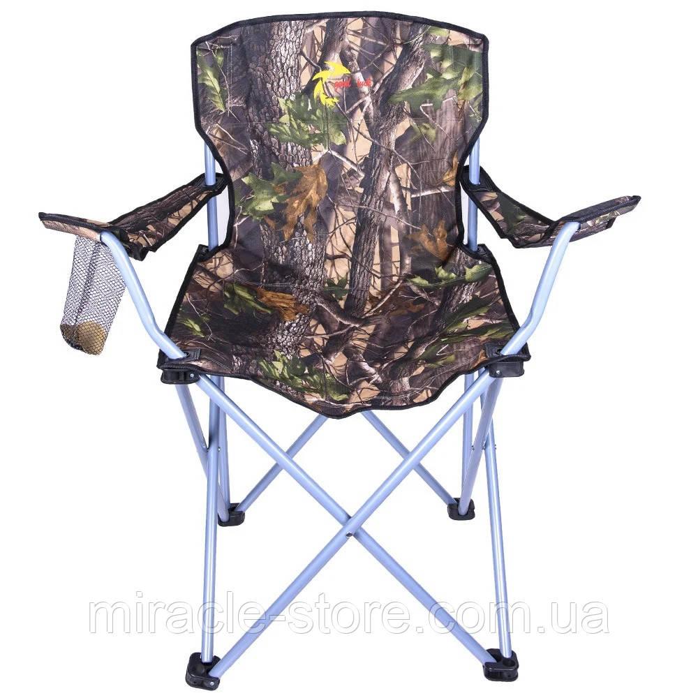 Посилений стілець складаний зі спинкою Good Luck туристичний рибацький