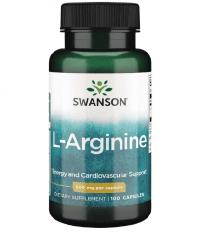 Swanson L-Arginine 500 mg, L-Аргінін (100 капс.)