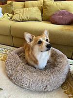 Лежак для кошек и собак, лежанка-подушка, кровать S 40 см до 2 кг бежевый цвет, фото 8