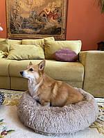 Лежак для кошек и собак, лежанка-подушка, кровать S 40 см до 2 кг бежевый цвет, фото 9