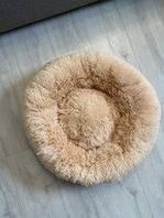 Лежак для кошек и собак, лежанка-подушка, кровать S 40 см до 2 кг бежевый цвет
