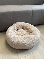 Лежак для кошек и собак, лежанка-подушка, кровать M 50 см до 4 кг светло-бежевый цвет, фото 9