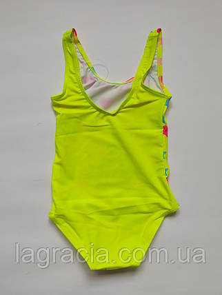 Совместный детский купальник для девочки Лимонный рост от 98 до 136 см, фото 2