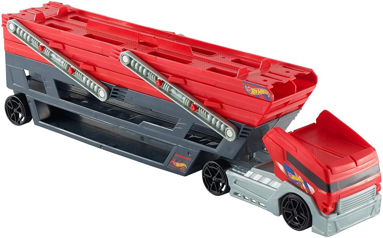 Хот Вилс Мега грузовик Автовоз для 50 машин Hot Wheels Mega Hauler