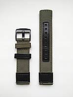 Ремешок нейлоновый для часов, хаки. Samsung Gear Frontier/S3. 22 мм