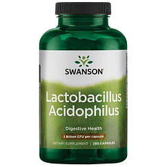 Swanson Lactobacillus Acidophilus 1 Billion CFU, Пробіотик Ацидофілус (250 капс.)