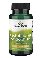 Swanson Lactobacillus Acidophilus 1 Billion CFU, Пробіотик Ацидофілус (100 капс.)