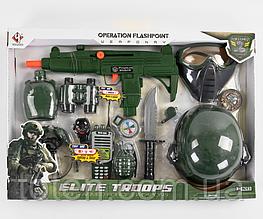 Ігровий набір Військовий Хлопчикові М 015 автомат, шолом, маска і тд.