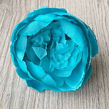 Півонія штучний 8-10 см см колір насичений блакитний (головка без листя) - 18 грн