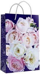 Подарунковий паперовий пакет ЧАШКА 16*16*8 см Квіти