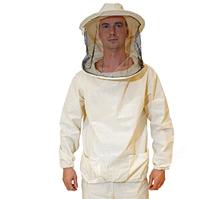 Куртка пчеловода с классической маской. Ткань бязь.  46/48, S/M