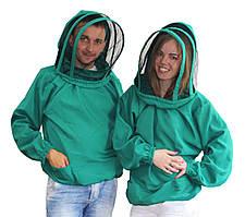 Куртка пчеловода с маской  Евро. Ткань габардин. 46/48, S/M