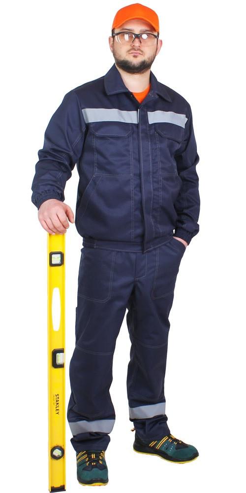 Спецодежда костюм рабочий летний куртка с полукомбинезоном «Строитель» грета