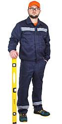 Спецодяг костюм робочий літній куртка з напівкомбінезоном «Будівельник» грета