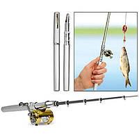 Складная походная мини-удочка в форме ручки Fishing rod in pen case с катушкой