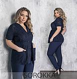 Женский брючный костюм  батал Украина Размеры: 50-52,54-56,58-60,62-64, фото 2