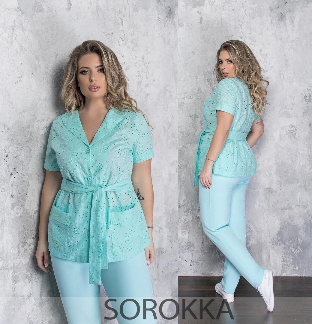Женский брючный костюм  батал Украина Размеры: 50-52,54-56,58-60,62-64