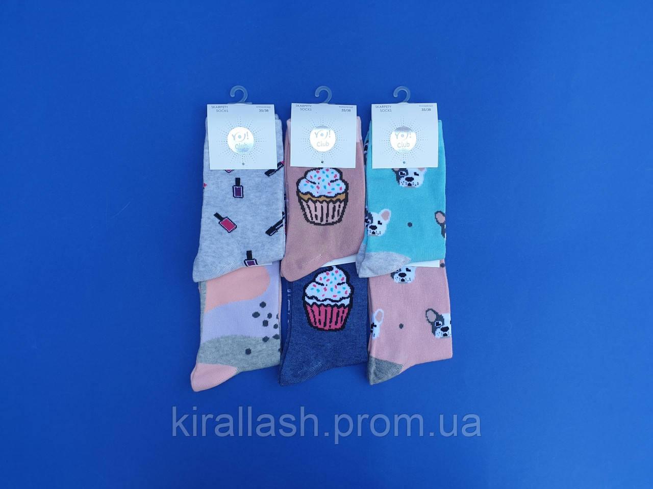 """НОВИНКА! Шкарпетки (39-41 розмір) бавовна для дівчаток """"YO SCORPIO"""" Польща"""