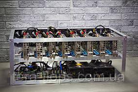 Майнинг ферма, риг на 8 видеокарт (185 MH/s) / Nvidia P106-100 6GB