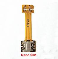 Переходник на 2 SIM + MicroSD в комбинированный лоток, адаптер nanoSIM
