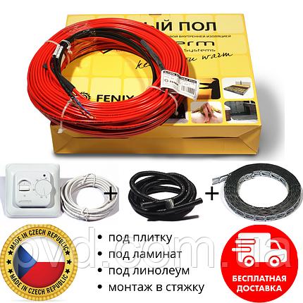 Тепла підлога комплект механічний термостат + нагрівальний кабель in-therm ECO PDSV20 для монтажу в стяжку, фото 2