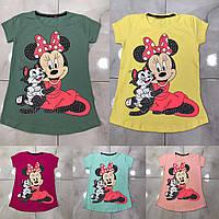 Подростковая футболка MINNIE&CAT для девочек 7-14 лет,цвет уточняйте при заказе, фото 1