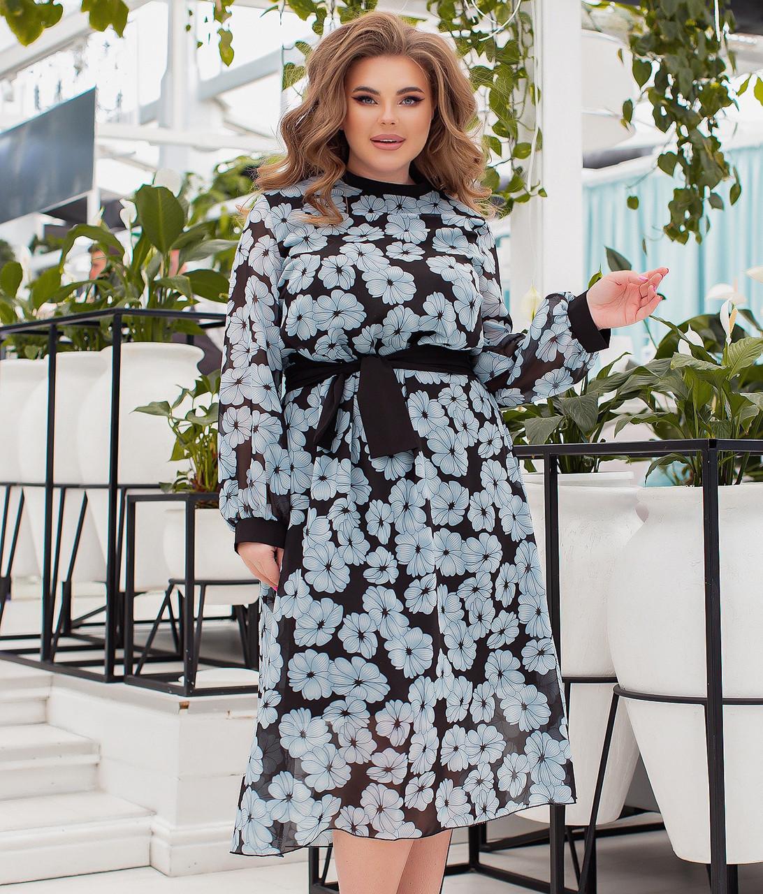 Красиве шифонове плаття для повних жінок