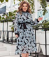 Красиве шифонове плаття для повних жінок, фото 1