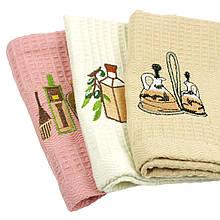 Кухонне вафельний рушник Масло 30х60см