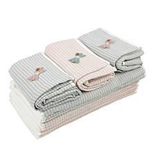 Кухонное полотенце полоска с бантиком лен с махрой полотенце 35х70см