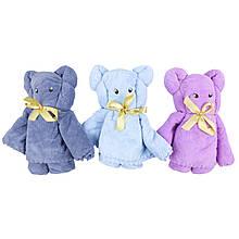 Рушник-іграшка дитяче для особи з мордочкою ведмедик мікрофібра 70х140 см