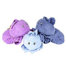 Рушник-іграшка дитяче для особи з мордочкою зайчик мікрофібра 70х140 см